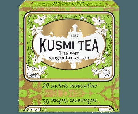 Kusmi te - Green Ginger Lemon, 20 poser